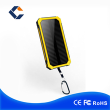 New Portable China wholesale Solar Power Bank 20000mah Solar Cell Power Bank 2 Usb Ports With Led Torch Sos Function