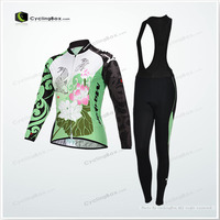 Cycling long bib jersey set /bike wear in special design for women