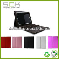 hot sale for ipad leather case with bluetooth keyboard