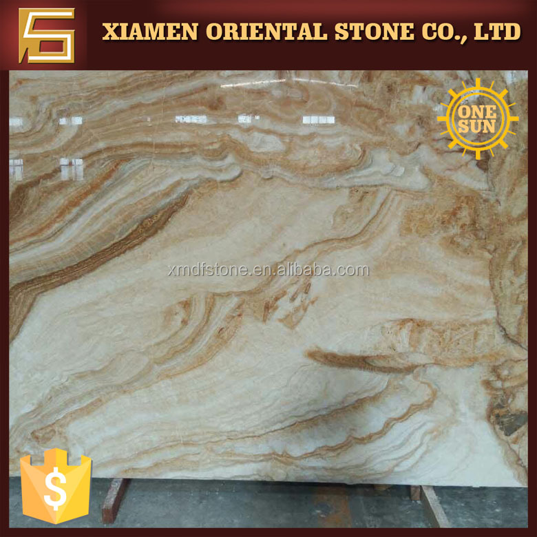 yellow wooden onyx marble stone price for flooring