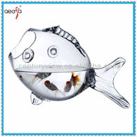 high quality fish shaped glass fish shaped new design table decorative
