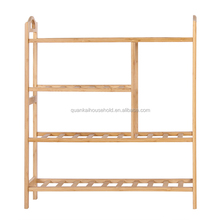 100% Bamboo Shoe Bench Shoe Storage Shelf Organizer