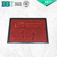Welcome rubber plain door mat