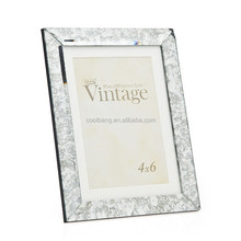 Beauty white foto frame / wood photo frames / glass mirror frame
