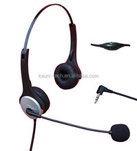 Dual Ear Call Center Telephone Headphone with Noise Canceling Microphone + Volume Mute Controls with Standard 2.5mm Headset Jack