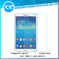 2016 Chinese factory wholesale !!! 9H HD 2.5D Tempered Glass Screen Protector for Galaxy TAB 3 7.0 8.0