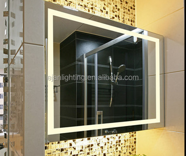 Hotel Bathroom LED Lighted Single Side Shaving Cosmetic Mirror
