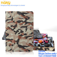 Leopard design removable PU leather PC case for iPad Air / mini/234