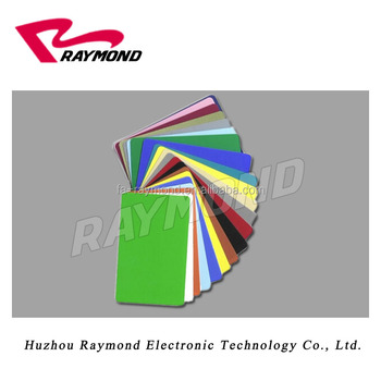 CR80 Blank Color PVC Cards graphic color