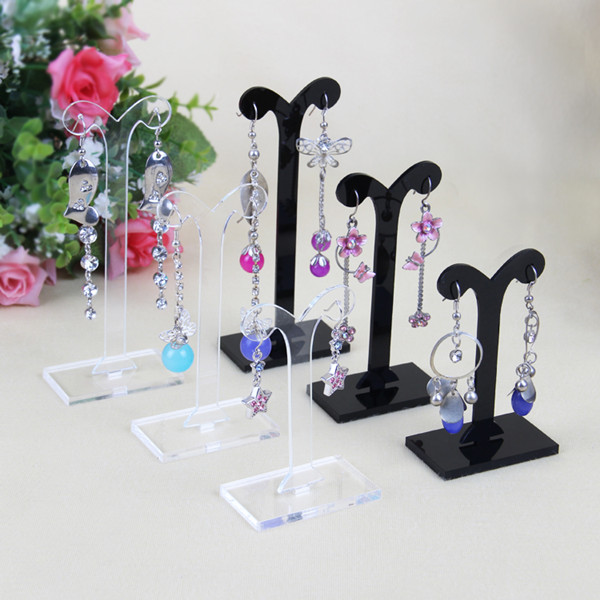 Size acrylic countertop jewellery earring display