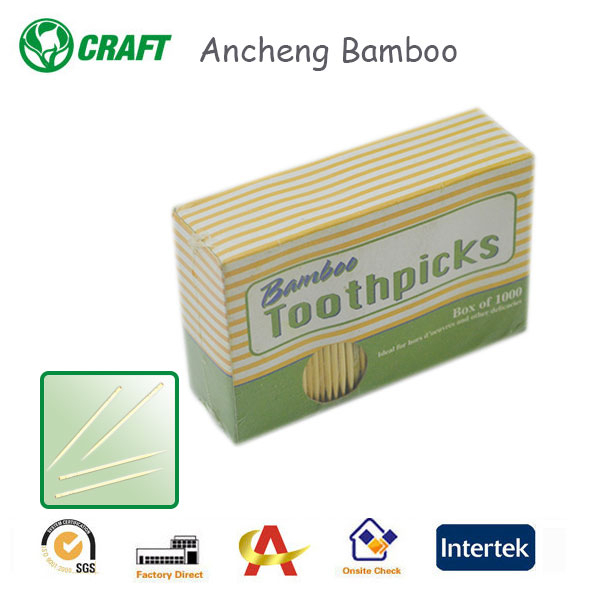 AC Factory High Quality 1000pcs Bamboo Toothpicks