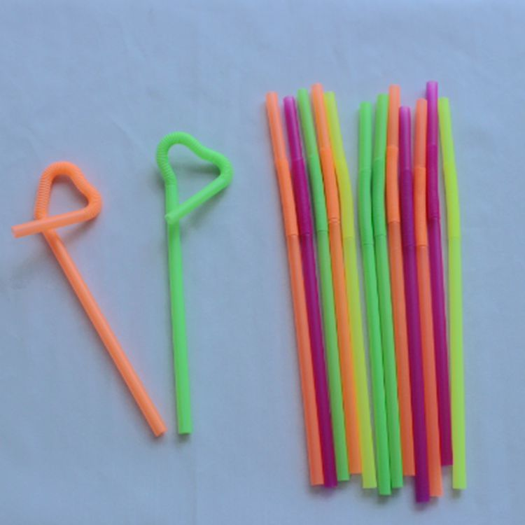 Colorful Plastic Artistic Drinking Straw With Low Price