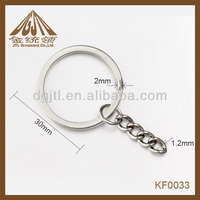Fashion metal split ring with chain link eye screw