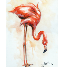 Home Decored Flamingo Animal Canvas Art Oil Painting