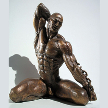 Life Size Bronze Nude Man Statue Metal Male Figurine Sculpture