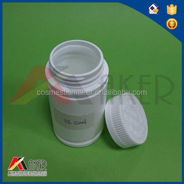 150ml cylinder-shaped HDPE plastic medicine bottle with screw cap