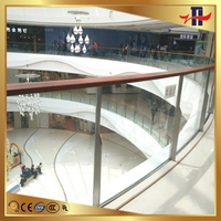 Customized hot sale tempered glass stairs