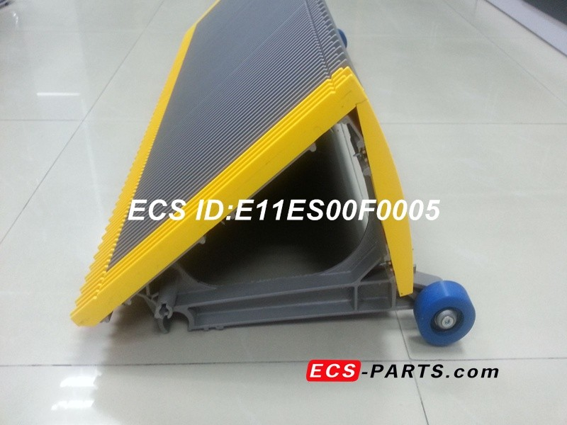 Replacement Escalator Step For Schindler With Yellow Plastic Demarcation in back side