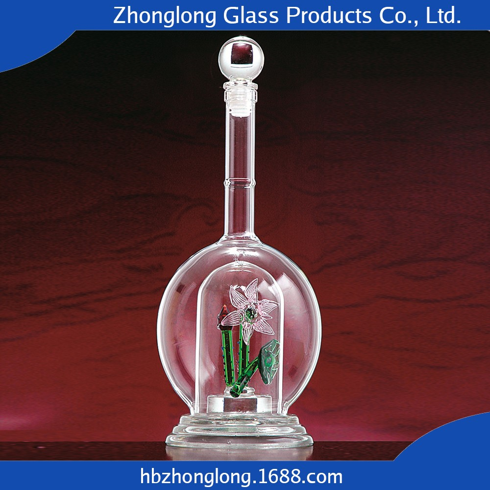 China Manufacturer Hot Sale Mouth Blown Whiskey Bottle Sizes