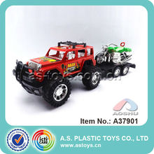 children play plastic material cheap power trailer car friction toy with best quality