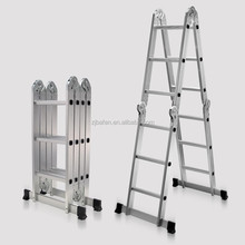 Heavy Duty Aluminum Folding Scaffold Work Ladder 12.5ft Multi-Fold Step Light Weight Multi-purpise Extension Ladder