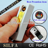 Hi power popular Christmas advertising promotion gadget USB lighter e shop
