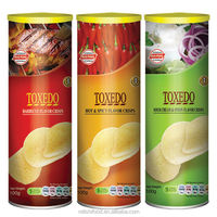 Canned fried potato chips
