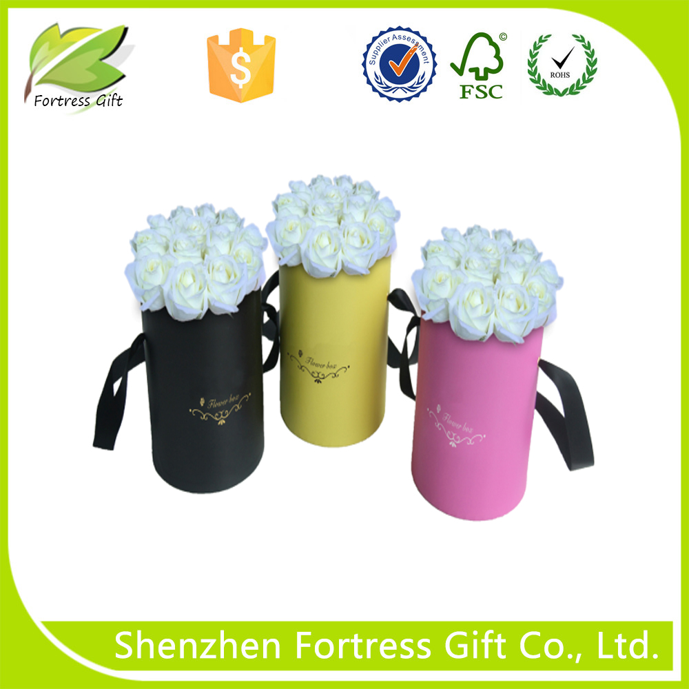 Beautiful decorative flower cylinder packaging box