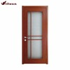 Good quality interior frosted glass PVC MDF wooden free paint bathroom door design