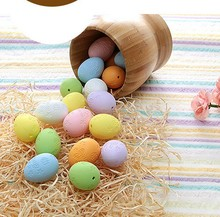 Plastic decorative design mini hung tag easter egg for Easter decoration in family