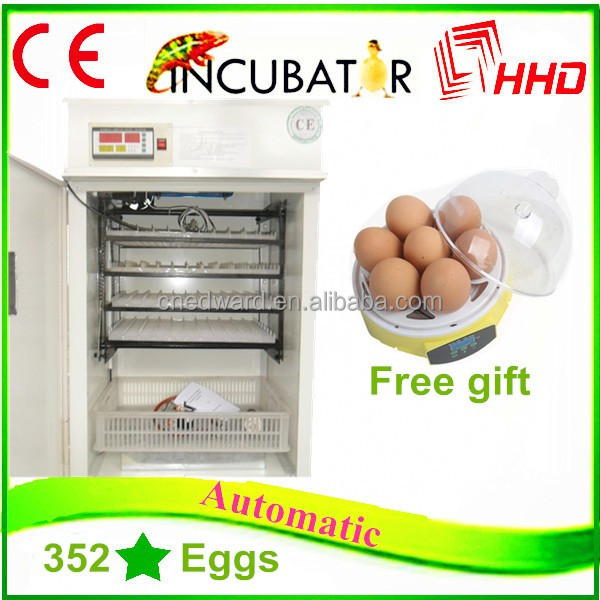 2016 best price hhd poultry egg incubator thailand EW-6 holding 352 eggs for sale