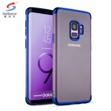 Saiboro 3 sections plating soft tpu transparent clear case for samsung s7 edge s8 s 8 plus note 8 s9 plus