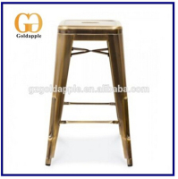 Latest design metal stackable industial bar chair italian bar stool