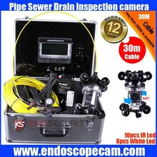 360 degree Sewer Pipe Inspection Camera CR110-7E with 30m to 100m fiber glass cable