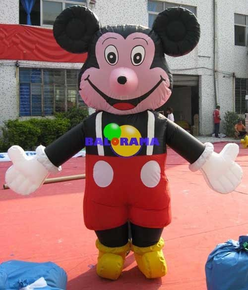 inflatable mascot mouse costume air walker