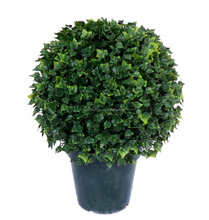 Wholesale 20'' UV Resistant Plastic fake English Ivy Ball Topiary Outdoor