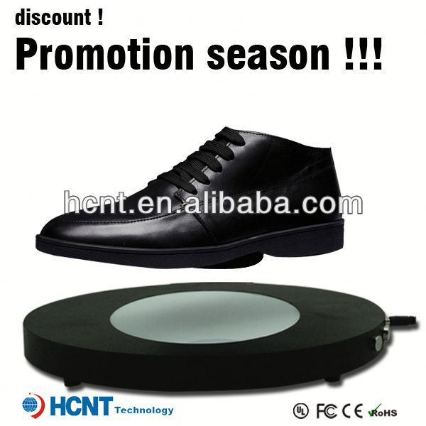 new invention ! magnetic levitating led display stand for shoe woman,ladies women shoes thailand
