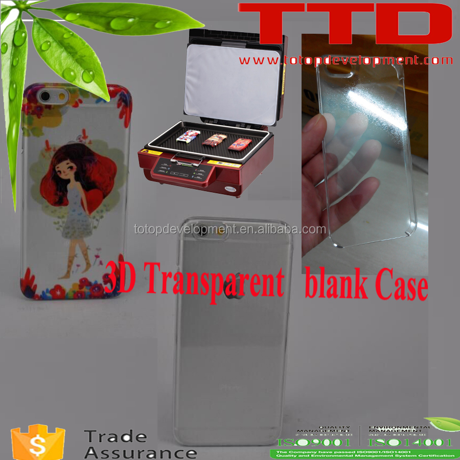 Sublimation clear phone case for i Phone5C , 3D transparent color plastic blank phone cover