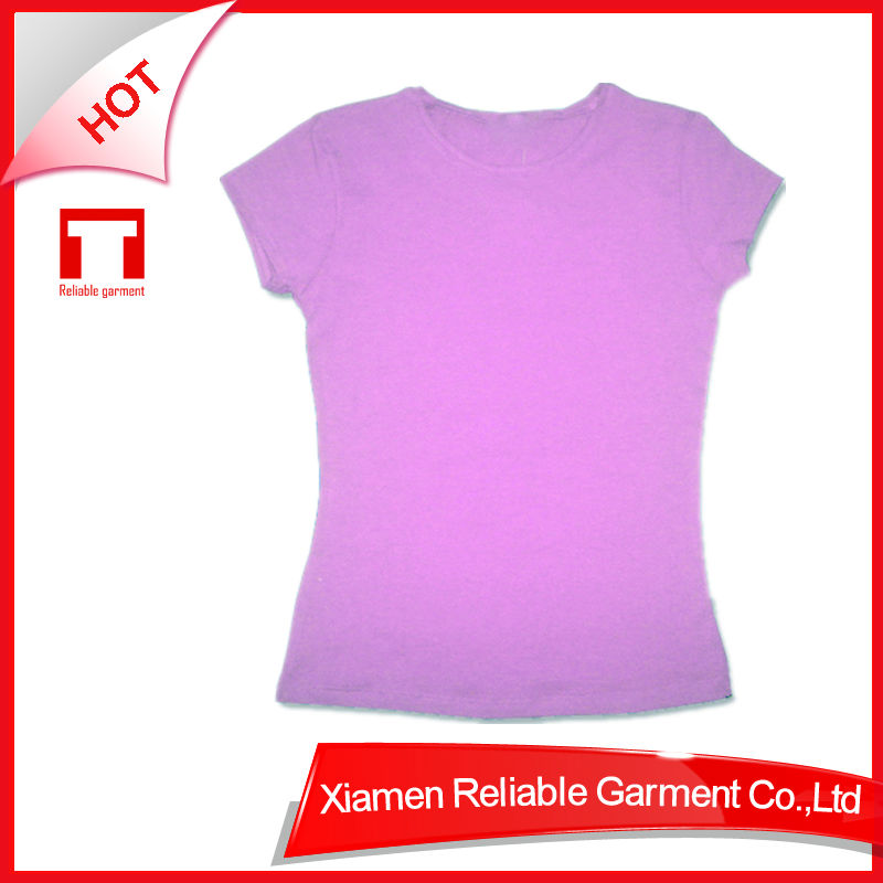 180G Promotional Top Quality 100% cotton women t-shirt 2013