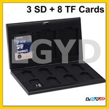 11 in 1 Memory Card Protective Case Box for TF Card / SD Card, Size: 88 x 50 x 8.5mm (Black)