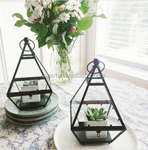 Copper Decorative Plant hanging Geometric Glass Terrarium