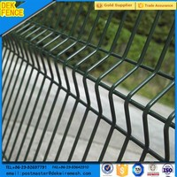 wire fencing plastic-coated / plastic coated prefabricated rigid wire mesh panel