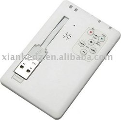 credit card mp3 player ,usb mp3 player large factory supply
