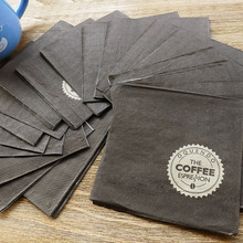 Disposable raw materials black coffee napkin
