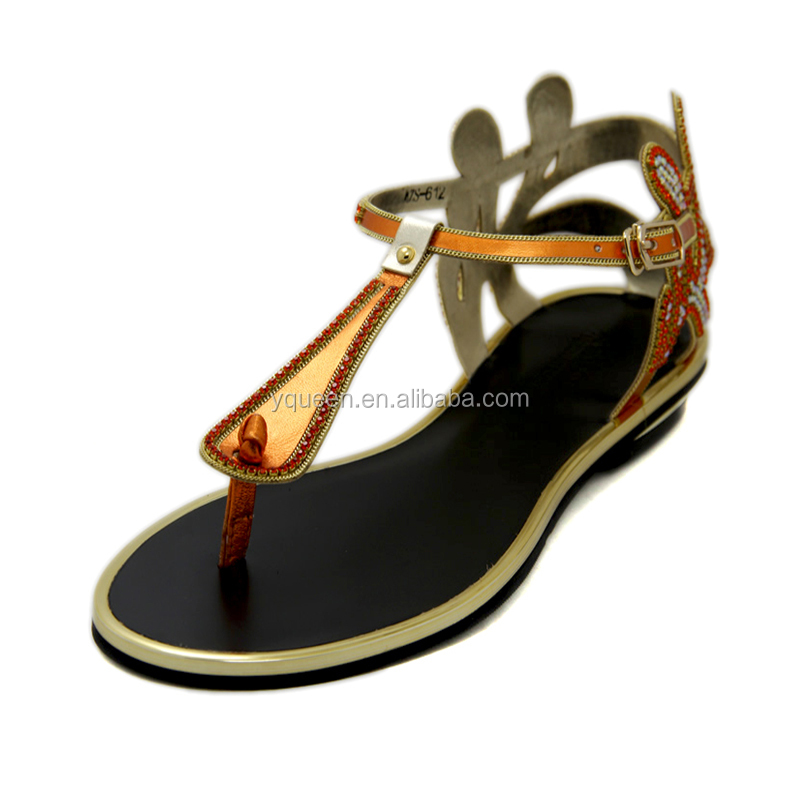 ladies shoes fashion flat summer sandals 2016 for women wedding shoe