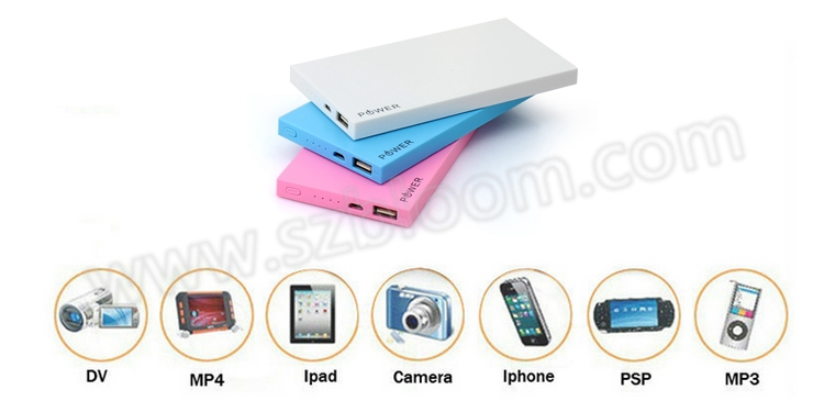 alibaba china ultra slim powerbank 10000mah, plastic portable 10000mah power bank for xiaomi iphone7