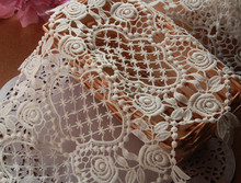 AFRICAN GUIPURE DRY LACE MATERIAL HEAVY 100% POLYESTER HIGH QUALITY PEACOCK THAILAND LACE FABRIC ROLLS