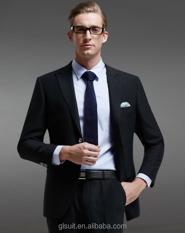 Wholesale 2014 new style men slim fit suit two buttons 70%wool ...