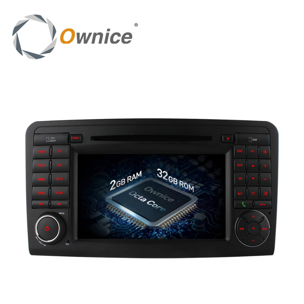 Ownice Android 6.0 Octa Core Head Unit for Mercedes ML Class W164 X164 support TPMS with 2G RAM