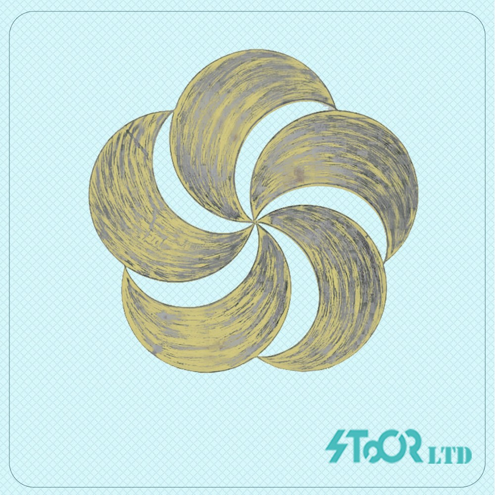 Fashion bed gold flower metal wall art decoration
